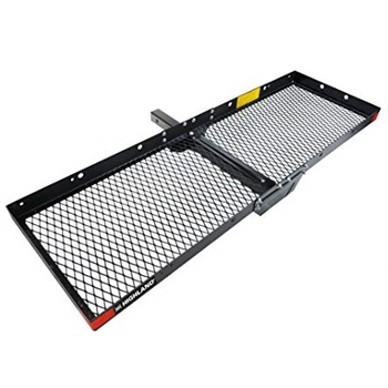 Highland 1042000 Hitch Mounted Cargo Carrier – Black