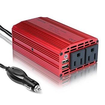 BESTEK 300W Car Inverter with 4.2A Dual USB Car Adapter