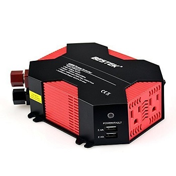 BESTEK 400W Car Power Inverter with 5A 4 USB Charging Ports