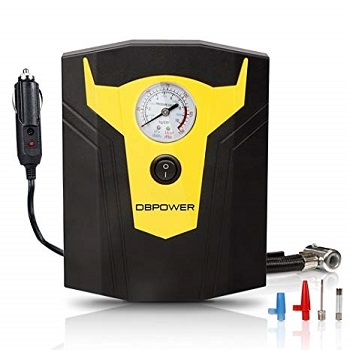 DBPOWER 12V DC Portable Electric Auto Tire Inflator with Gauge
