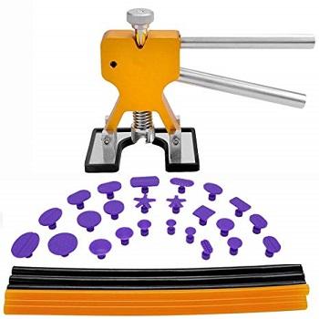 GLISTON Dent Puller Tools, 31pcs Paintless Dent Repair Tools Kit