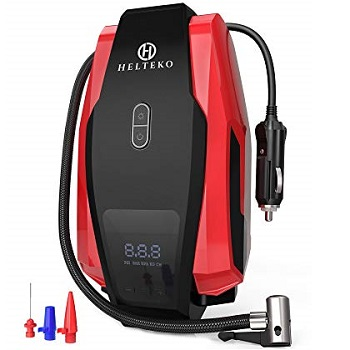 Helteko Portable Air Compressor Pump Digital Tire Inflator