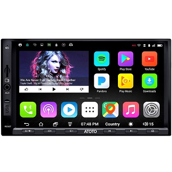 ATOTO A6 Double Din Car Navigation Stereo with Bluetooth