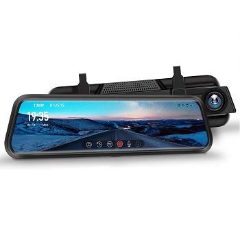 """DuDuBell 10"""" Mirror Dash Cam"""