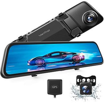 """VanTop H612 12"""" 2.5K Mirror Dash Cam"""